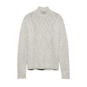 Banana Republic | Gray Italian Yarn Wool Sweater L